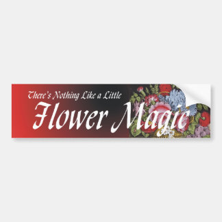 TEE Flower Magic Car Bumper Sticker