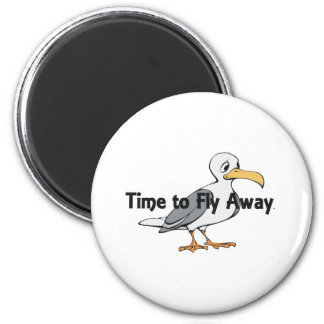 TEE Fly Away 2 Inch Round Magnet