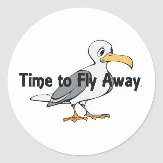 TEE Fly Away Classic Round Sticker