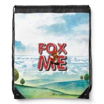 TEE Fox Me Drawstring Bag