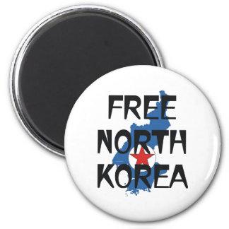 TEE Free North Korea 2 Inch Round Magnet