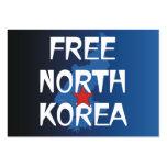 TEE Free North Korea Business Card Templates