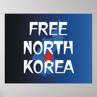 TEE Free North Korea Poster