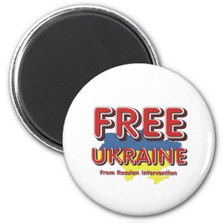 TEE Free Ukraine 2 Inch Round Magnet