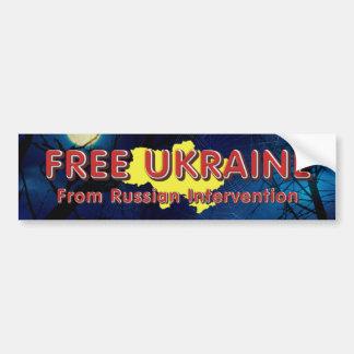 TEE Free Ukraine Bumper Sticker