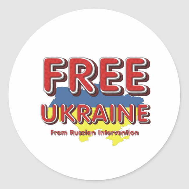 TEE Free Ukraine Classic Round Sticker