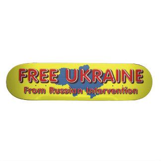TEE Free Ukraine Skateboard Deck