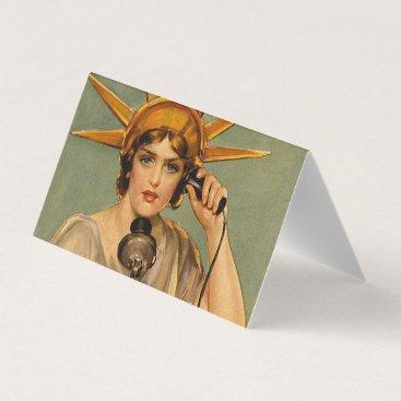 USA Themed TEE Freedom Calling Business Card