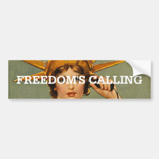 TEE Freedom's Calling Bumper Sticker