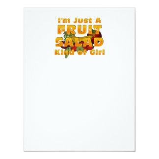 TEE Fruit Salad Girl 4.25x5.5 Paper Invitation Card