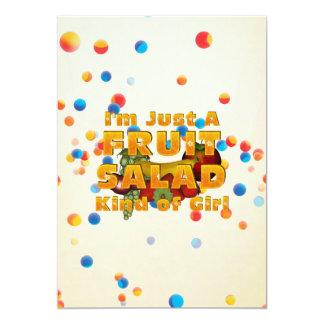 TEE Fruit Salad Girl 5x7 Paper Invitation Card