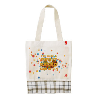 TEE Fruit Salad Girl Zazzle HEART Tote Bag