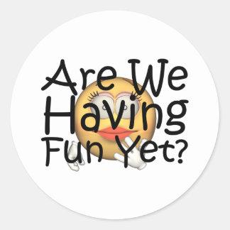 TEE Fun Yet Classic Round Sticker