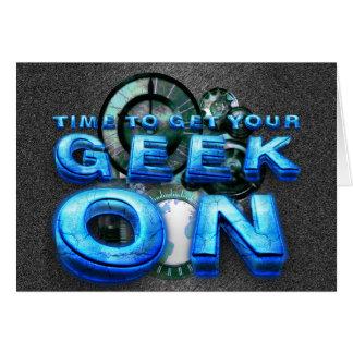 TEE Geek On Greeting Card