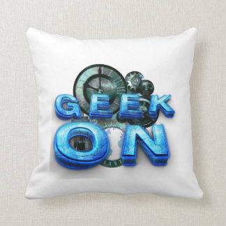 TEE Geek On Throw Pillows