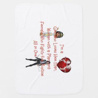 TEE Girl Loves All in One Baby Blanket