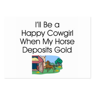TEE Happy Cowgirl Humor Large Business Cards (Pack Of 100)