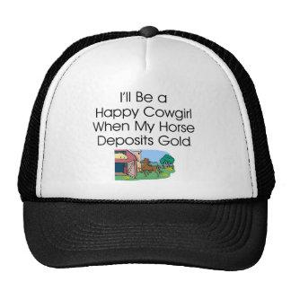 TEE Happy Cowgirl Humor Trucker Hat