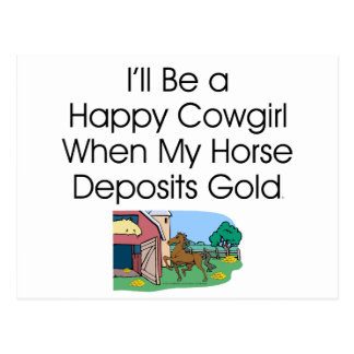 TEE Happy Cowgirl Humor Postcard