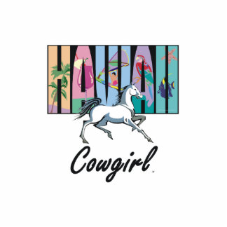 TEE Hawaii Cowgirl Photo Cut Out