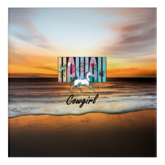 TEE Hawaii Cowgirls Acrylic Print