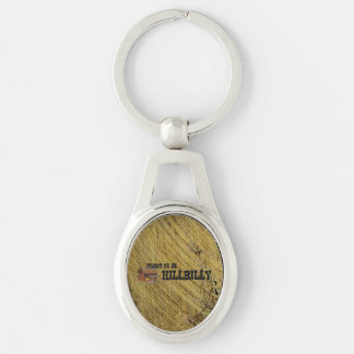 TEE Hillbilly Pride Silver-Colored Oval Metal Keychain