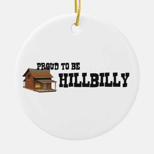 TEE Hillbilly Proud Double-Sided Ceramic Round Christmas Ornament