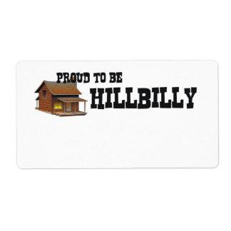 TEE Hillbilly Proud Label