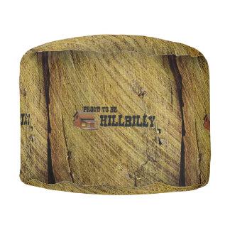 TEE Hillbilly Proud Round Pouf