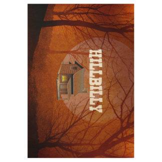 TEE Hillbilly Proud Wood Poster