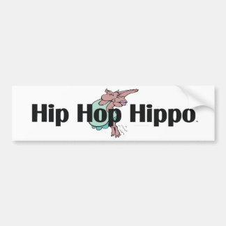 TEE Hip Hip Hippo Car Bumper Sticker