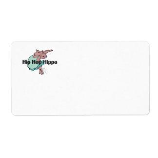 TEE Hip Hop Hippo Shipping Label