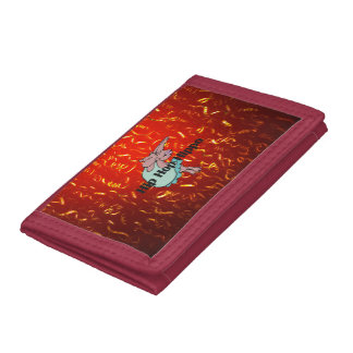 TEE Hip Hop Hippo Trifold Wallets