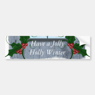 TEE Holly Winter Bumper Sticker