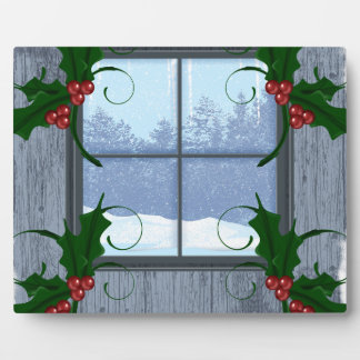 TEE Holly Winter Plaque