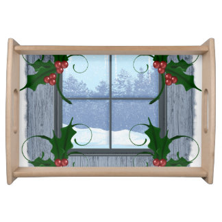 TEE Holly Winter Serving Tray