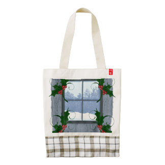 TEE Holly Winter Zazzle HEART Tote Bag