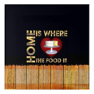 TEE Home is Where the Food Is Acrylic Wall Art