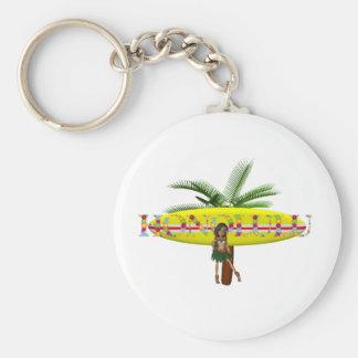 TEE Honolulu Basic Round Button Keychain