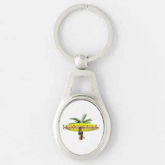 TEE Honolulu Silver-Colored Oval Metal Keychain