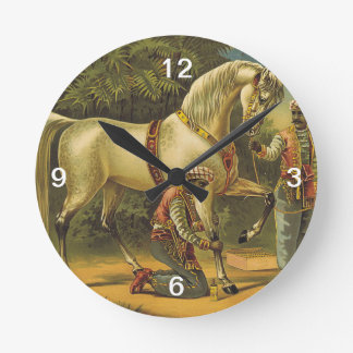 TEE Horse Royalty Round Clock