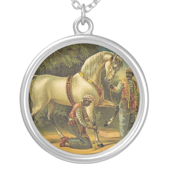 TEE Horse Royalty Silver Plated Necklace