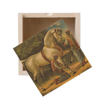 TEE Horse Royalty Wooden Keepsake Box