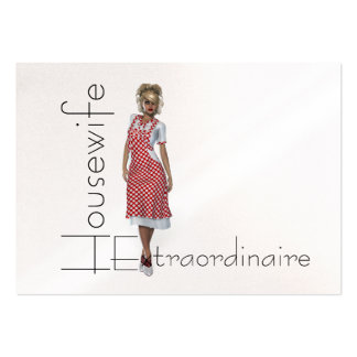 TEE Housewife Extraordinaire Large Business Card