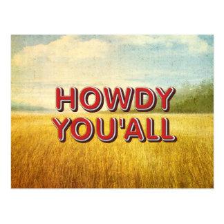 TEE Howdy You'all Postcard
