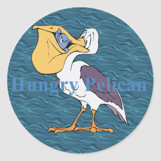 TEE Hungry Pelican Classic Round Sticker
