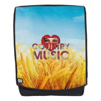 TEE I Love Country Music Backpack