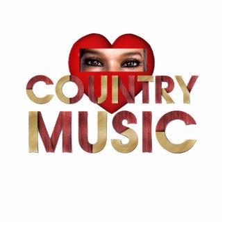 TEE I Love Country Music Cutout