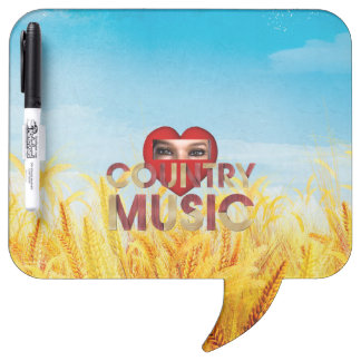 TEE I Love Country Music Dry-Erase Whiteboards