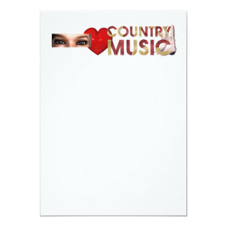 TEE I Love Country Music Personalized Invitation